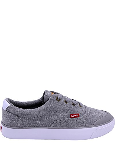 Levis Mens Fowler Chambray Sneaker Grey