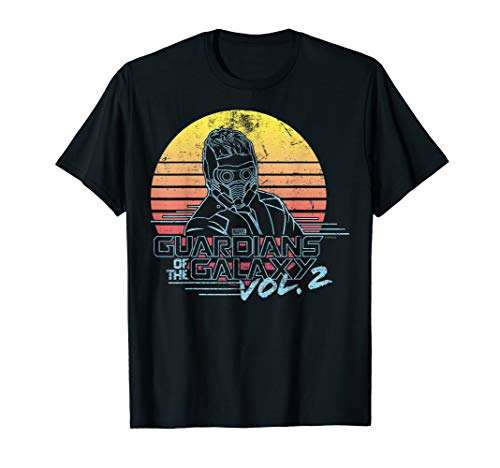 Marvel Star-Lord Guardians of Galaxy 2 Retro Graphic T-Shirt