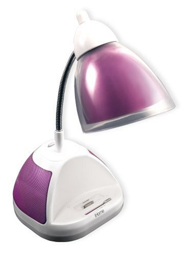 Awesome IHome Desk Lamp With IPod/MP3 Dock, Pink