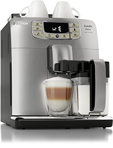 Saeco Intelia Cappuccino Deluxe Automatic Espresso Machine, Stainless Steel, HD8771/93