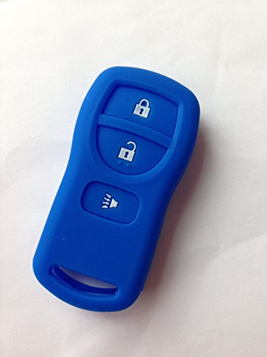 TCKEY New Silicone Protective Fob Skin Key Cover Jacket Protector Sleeve Keyless Fob for Nissan Armada Frontier Murano Quest Xterra Titan Pathfinder Infiniti 28268EA00A 28268-D4005 (Nissan Frontier Key Cover compare prices)