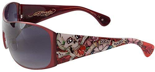 Ed Hardy EHS Roxy Men's Sunglasses - Red ()