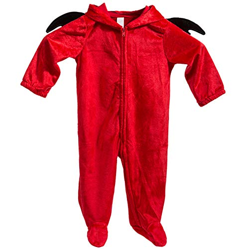 Infant Devil Costume (iBonny Baby Romper Cosplay Devil Costume Toddler Cosplay Pajamas Kid One Piece Sleeping Wear Red for)