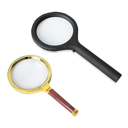 - Shop LC Delivering Joy Black Gold Brown Resin Set of 2 Magnifying Glass (1-6 LED/2-90 MM) (9.25x4.25 6.69x3.54) (Batteries not Included)