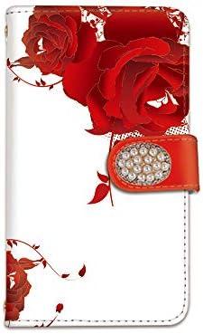 [bodenbaum] Galaxy A7 SH-A750C 手帳型 スマホケース カード ミラー スマホ ケース カバー ケータイ 携帯 SAMSUNG サムスン ギャラクシー エーセブン SIMフリー 薔薇 バラ 華やか 花柄 おしゃれ f-023-deco (A)