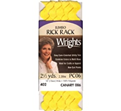 Pink Wrights 117-401-061 Polyester Rick Rack Trim Medium 2.5-Yard