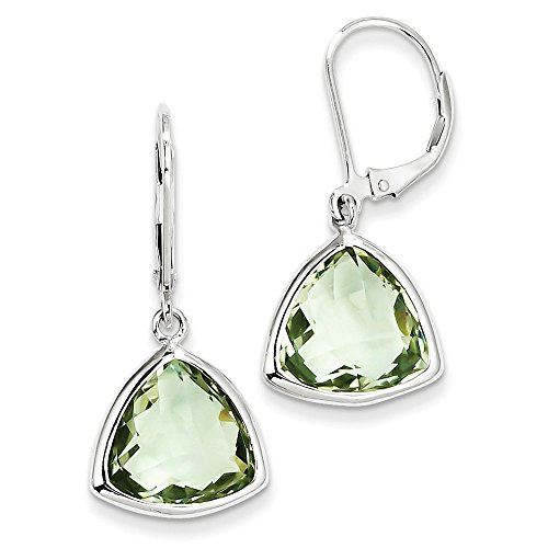 Sterling Silver Green Quartz Earrings by CoutureJewelers