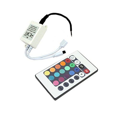 Silver Electronics Controlador RGB con Mando para Tira LED, Blanco: Amazon.es: Iluminación