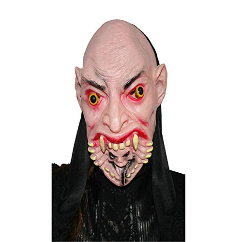 Party Masks - Halloween Party Cosplay Mask Terror Mask Buck Teeth Ghost Mask Mascara Terror Cosplay Prank Props Party Masquerade Fancy Costume - (Color: C)