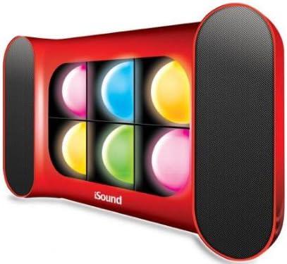 iSound iGlowSound Dancing Light Speaker Red