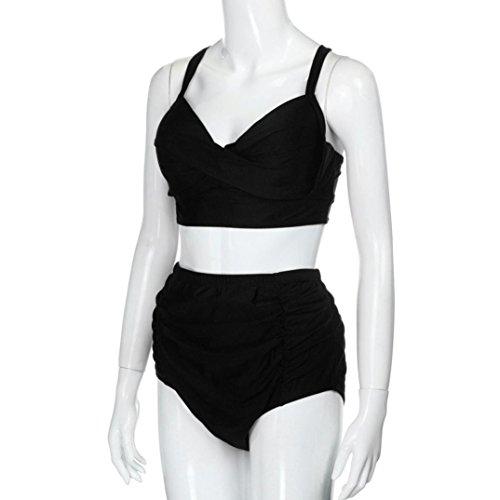 Vovotrade 2017 Mujer de traje de baño de cintura alta más traje de baño de impresión flor playa conjunto de bikini
