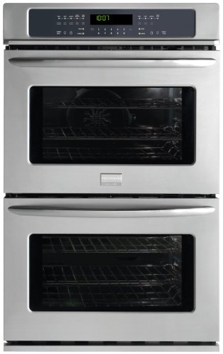 FGET2745KF Gallery Series 27″ Double Electric Wall Oven with 3.5 cu. ft. Upper True Convection Oven Convection Conversion One-Touch Self Clean and Star-K Certified Stainless