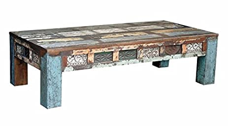 Carved Coffee Table 17u0026quot; X 60u0026quot; X 30u0026quot; Rustic Reclaimed Boat  Wood Spectacular