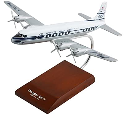 DC-7C Pan American 1/100 Scale Desktop Model Aircraft