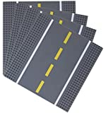 Strictly Briks / ストリクトリーブリックス 道路ベースプレート 25.4x25.4㎝ ビルディングブリック ベースプレート の製品と 道路、街やガレージなどが作れるベースプレート。道路付きベースプレート 直線4枚