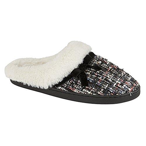 Zedzzz Donna / Donna Ella Ecopelle Polsino Mule Pantofole Nero / Multi