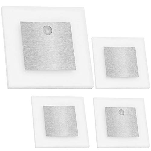 LEDANDO Set LED Treppenbeleuchtung inklusive Zwei Einheiten mit Bewegungsmelder und 15W Trafo, Set 4er Set inkl. 2 x Sensor