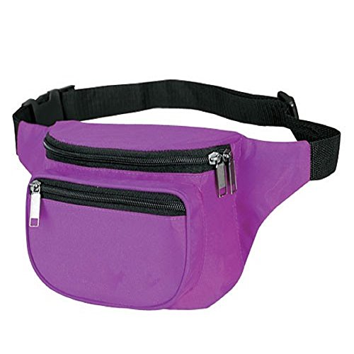 Yens® Fantasybag 3-Zipper Fanny Pack-Purple FN-03]()