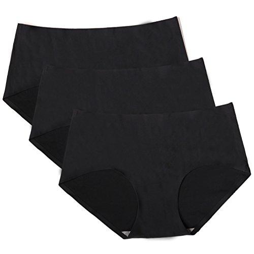 9f4f7e04823a8 ETAOLINE レディース シームレス ショーツ ひびきにくい レギュラーショーツ 下着 パンツ 無縫製 インナー 3枚セット