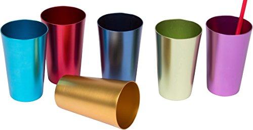 Trademark Innovations Aluminum Tumblers Multicolor