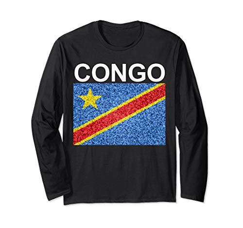 Artistic-style National Flag of DROC - East Congo Long Sleeve - Flag Kinshasa Congo