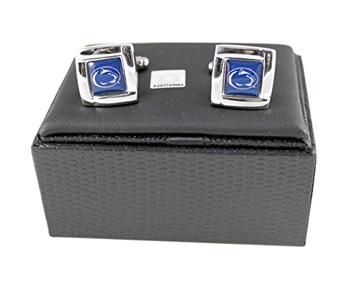 State Logo Square - NCAA Penn State Nittany Lions Sports Team Logo Square Cufflinks Gift Box Set