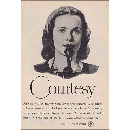 Telephones Courtesy (RelicPaper 1947 Bell Telephone: Courtesy, Bell Telephone Print Ad)