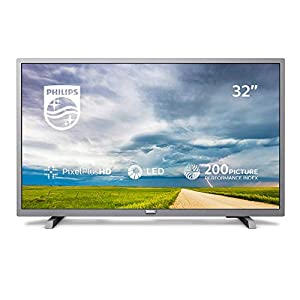 Philips 32PHT4504/05 32-Inch HD Ready LED TV with Freeview HD – Silver (2019/2020 Model)