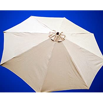 new market patio umbrella replacement canopy canvas cover 8 9 10 11 13 ft 13 tan - Patio Umbrella Replacement Canopy