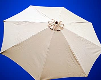 New Replacement Umbrella Canopy for 13FT 8 Ribs Color Tan/Beige (CANOPY : umbrella canopy replacement - memphite.com