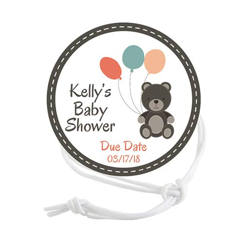 Napkin Knots Baby Shower Napkin Ring - Teddy Bear Customized (Pack of 10) (Banquet)