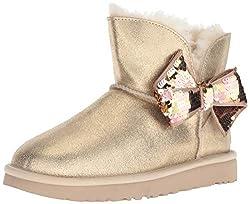 Women's Mini Sequin Bow Fashion Boots