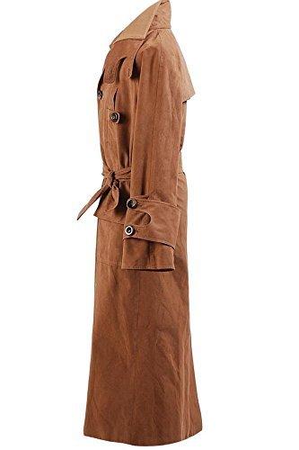 CosDaddy® Braun-Veloursleder Lange Windjacke Cosplay Kostüm