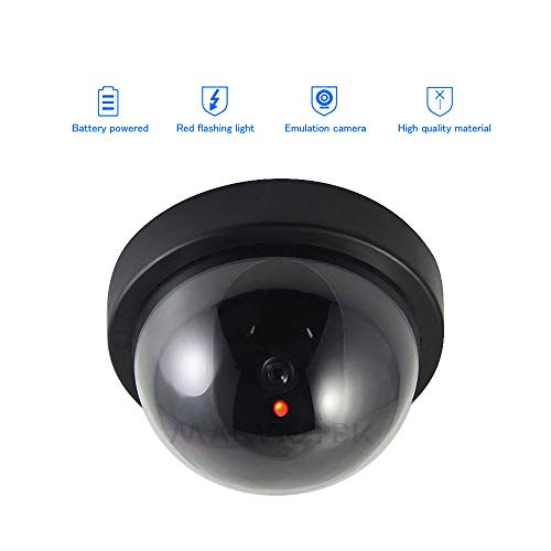 (DSFSFFFD Indoor Fake IP Camera WiFi Home Security Video Surveillance Dummy Camera CCTV Mini Camera Flashing LED Light)