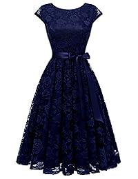 BeryLove Women's Floral Lace Short Bridesmaid Cocktail Dress