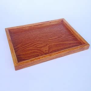 Blesiya Vintage Serving Breakfast Tray, Rustic Wood Trays, Retro Tray Set, Nesting Serving Tray Platter for Food Drink Eating Coffee Carring - Brown, S