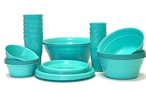 Mintra Home Snack Bowls (Party Set - 38pc, Teal) ()