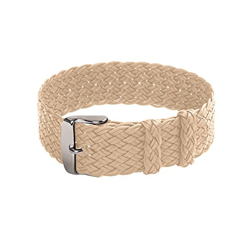 Double Braided Perlon Watch Strap (22mm, - Double Strap Braided