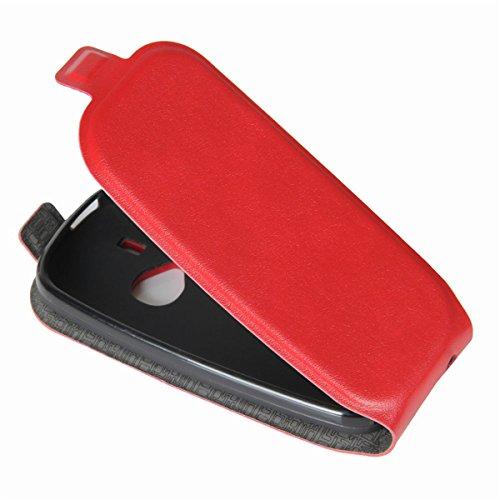 Funda Nokia 3310 (2017),Lifetrut [Caja de correa vertical] Cierre Magnético Frontal de La Cubierta del Tirón PU de Cuero Arriba Abajo del Funda de Protección Abierta para Nokia 3310 (2017) [Negro] E205-Rojo