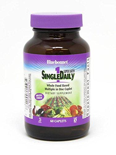Bluebonnet Super Earth Single Daily Multi-Nutrient Formula Iron Free Caplets, 60 Count Review
