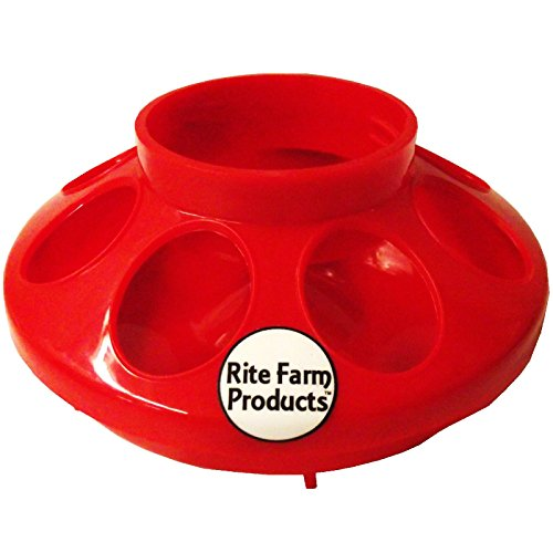 RED-RITE-FARM-PRODUCTS-FEEDER-BASE-FOR-POLYGLASS-QUART-JAR-POULTRY-CHICKEN