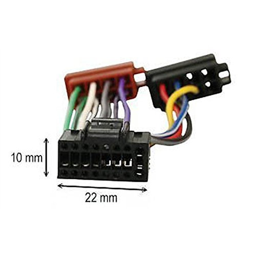 ISO wiring harness car stereo radio connector adapter cable loom KENWOOD 16 pin: