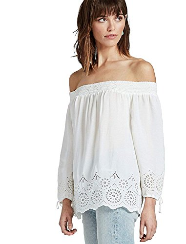 Lucky Brand Women's Eyelet-Trim Off-The-Shoulder Top Marshmallow ()