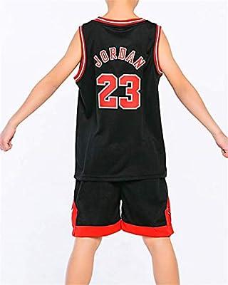 King-mely Camiseta de Baloncesto para Niños, 23 Bulls Jordan / # 23 Lakers James / # 30 Warriors Curry / #13 Rocket Harden de Baloncesto con Curry Ropa de Entrenamiento para Niños