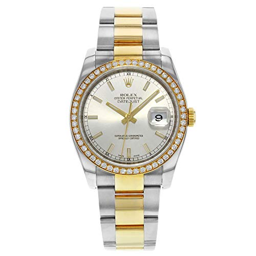 Rolex Oyster Perpetual Datejust 36 Silver Dial Stainless Steel and 18K Yellow Gold Bracelet Automatic Ladies Watch 116243 SSO