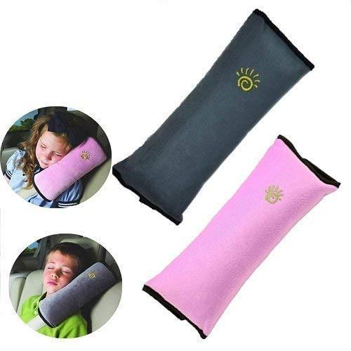 universal NOPNOG Funda para cintur/ón de seguridad de coche almohadilla para el hombro felpa suave 1 par negro