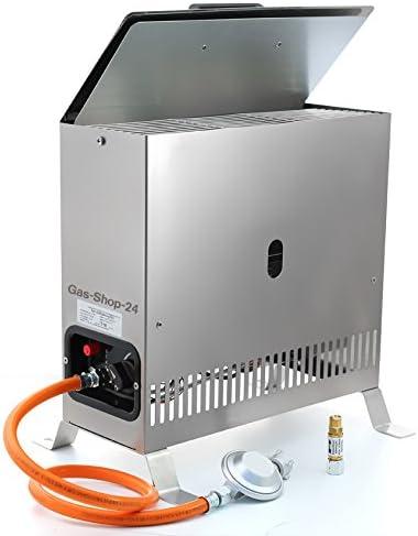 Acero inoxidable Invernadero Calefacción/heladas 2 kW con gas ...