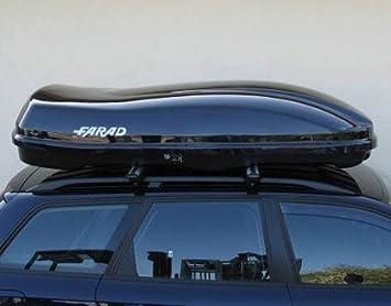 Farad 480 Litri Nero Lucido Box Portapacchi da Tetto per Auto Linea F3 Marlin