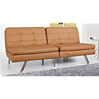 Gold Sparrow Memphis Camel Double Cushion Futon Sofa Bed