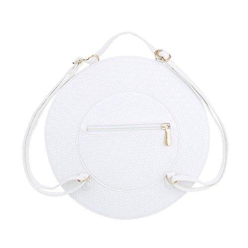 Ital-Design - Cartera de mano con asa de Material Sintético para mujer Weiß